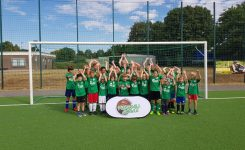 Sommer-Camp der Fussballschule Grenzland in Nievenheim mit 25 Kids